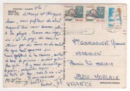 Timbres , Stamps  Sur Cp , Carte , Postcard Du 14/07/1980 - 1910-... République