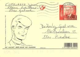 Carte Illustrée - 1952-2002 - Bessy - Guy Lefranc -  Ric Hochet  1955-2005  Rik Ringers - Stampilou. - Interi Postali
