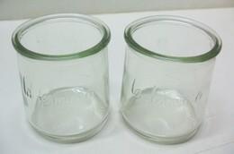 2 Pots En Verre Vides Bocaux La Fermière - Dishware, Glassware, & Cutlery