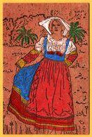 Carte En Liège - Costume Calabresi - Femme Calabraise - Animée - 1972 - Cartes Postales