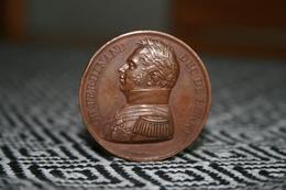 Bronze Medaille CH. FERDINAND DUC DE BERRY Sign F . GAYRARD 1820 Frankreich - Vor 1871