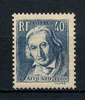 FRANCE 1934 N° 295 ** Neuf MNH Superbe C 6 € Célébrités Tisseur Jacquard - Unused Stamps