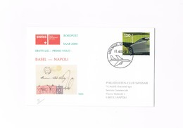 Svizzera / Switzerland / Primo Volo / First Flight / Basel - Napoli / SAAB2000 / 2005 - Airmail