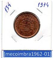 [*134*] - Ex/Colonia Moçambique Portugues 1 Escudo 1974 - Colonia - Mozambique