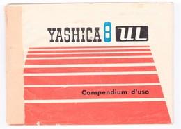 CINEPRESA YASHICA 8 MM.UL LIBRETTO ISTRUZIONI ORIGINALE IN ITALIANO COMPLETO 44 PAGINE - Cinemania