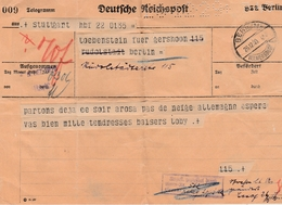 Telegramm 1929 - Berlin Wilmersdorf - Perfint Perforated Perforé - Allemagne