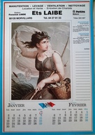 Calendrier Révolutionnaire 1989 Illustration Femme Nue Peinture Louis Lafitte - Big : 1981-90