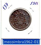 [*137*] - Ex/Colonia Moçambique Portugues 10 Escudos 1968 - Colonia - Mozambique