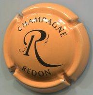 CAPSULE-CHAMPAGNE REDON P. N°24h Orange Pâle & Noir - Champagnerdeckel