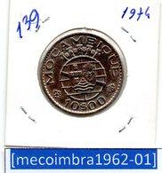 [*139*] - Ex/Colonia Moçambique Portugues 10 Escudos 1974 - Colonia - Mozambique