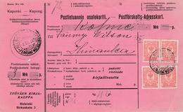Osotekortti 1912 Helsinki Adresskort - Verso Himanka - Imprimé - Kuponki Kupong Coupon - Lettres & Documents