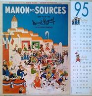 Extrait Calendrier 1995 Illustration Albert Dubout (4 Pages) Film Marius César Clochemerle Manon Des Sources - Calendars
