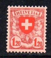 236/1500 - SVIZZERA 1924 , Croce Unificato N. 209  * Linguellato - Nuovi