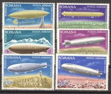 Rumänien 3499/3504 O Luftschiffe - 1948-.... Republiken