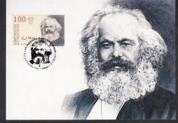 Kirgistan 2018 MNH** Mi. Nr. 93 Max Card 200 Year Birth Of Karl Marx M - Karl Marx