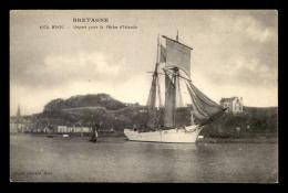 BATEAUX - VOILIER - DEPART POUR LA PECHE D'ISLANDE - BINIC - Sailing Vessels