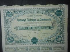 TRAMWAYS Electriques Et Chemins De Fer 1908  PARIS - Chemin De Fer & Tramway