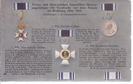 Orden Und Ehrenzeichen Bayerischer Heeresangehöriger Für Verdienste Vor Dem Feinde Im 1. Weltkrieg  -    -  AK 09481 - Autres