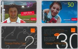 LOT 4 PREPAID PHONE CARD- SVIZZERA (E26.28.5 - Svizzera