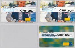 LOT 3 PREPAID PHONE CARD- SVIZZERA (E26.29.1 - Schweiz