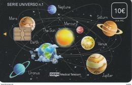 ISN-227 TARJETA DE ESPAÑA DE ISERN  DE LA SERIE UNIVERSO Nº1 (PLANETAS-PLANET) - Astronomie