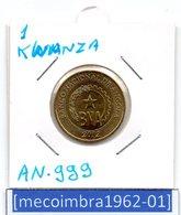 [*AN 999*] - Republica De Angola 1 Kwanza 2012 Banco Nacional De Angola - Angola