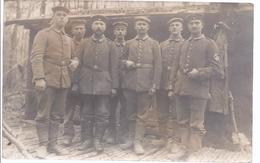 Soldatengruppe Fotokarte  Als Feldpost 1915 Garde Ersatz Division    -  AK 09485 - Personnages