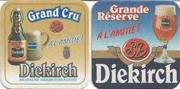 2 SOUS-BOCKS - DIEKIRCH (Bière Du Luxembourg) Grande Réserve & Grand Cru, Neufs. - Beer Mats