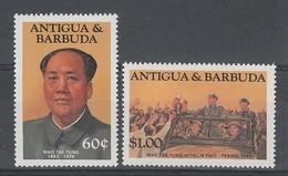 2 TIMBRES NEUFS D'ANTIGUA - MAO TSE-TUNG N° Y&T 797 + 802 - Mao Tse-Tung