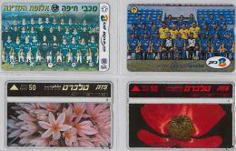 LOT 4 PHONE CARD- ISRAELE (E27.13.5 - Israele