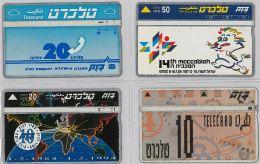 LOT 4 PHONE CARD- ISRAELE (E27.19.1 - Israel