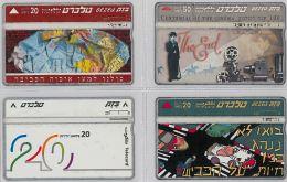 LOT 4 PHONE CARD- ISRAELE (E27.20.1 - Israel