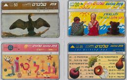 LOT 4 PHONE CARD- ISRAELE (E27.21.1 - Israel