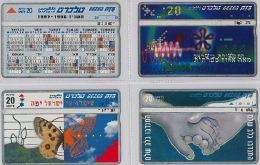 LOT 4 PHONE CARD- ISRAELE (E27.21.5 - Israel