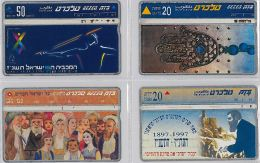 LOT 4 PHONE CARD- ISRAELE (E27.22.5 - Israel