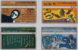 LOT 4 PHONE CARD- ISRAELE (E27.23.5 - Israel