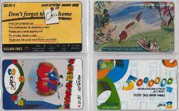LOT 4 PHONE CARD- ISRAELE (E27.25.1 - Israel