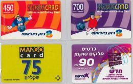 LOT 4 PREPAID PHONE CARD- ISRAELE (E27.28.1 - Israel