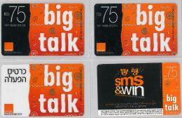LOT 4 PREPAID PHONE CARD- ISRAELE (E27.28.5 - Israel
