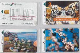 LOT 4 PHONE CARD- LATVIA(LETTONIA) (E27.31.1 - Latvia