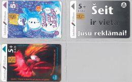 LOT 3 PHONE CARD- LATVIA(LETTONIA) (E27.32.1 - Latvia