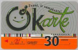 PREPAID PHONE CARD- LATVIA(LETTONIA) (E27.32.6 - Latvia