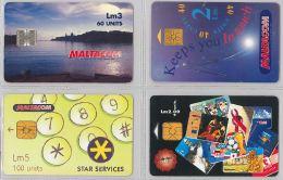 LOT 4 PHONE CARD- MALTA (E27.35.1 - Malta