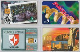 LOT 4 PHONE CARD- MALTA (E27.35.5 - Malta