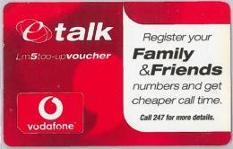 PREPAID PHONE CARD- VODAFONEMALTA (E27.37.1 - Malta