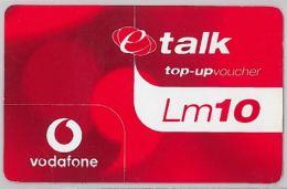 PREPAID PHONE CARD- VODAFONEMALTA (E27.37.2 - Malta