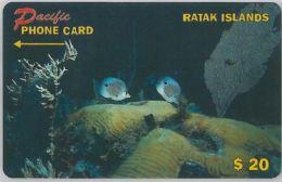 PHONE CARD- RATAK- ISOLE MARSHALL (E27.39.2 - Marshall Islands