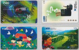 LOT 4 PREPAID PHONE CARD- CINA (E28.20.1 - Cina