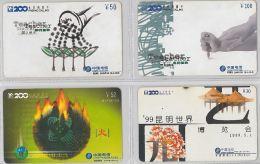 LOT 4 PREPAID PHONE CARD- CINA (E28.20.5 - Cina