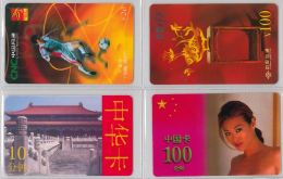 LOT 4 PREPAID PHONE CARD- CINA (E28.23.5 - Cina